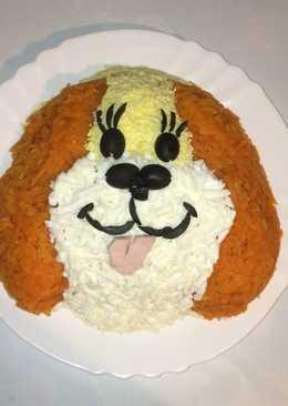 Новогодний салат Собачка