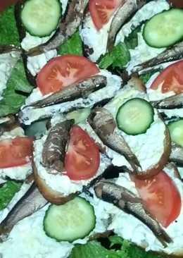 Вкуснейшие праздничные бутерброды - гренки со шпротами