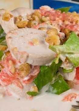 Куриный салат c грейпфрутом