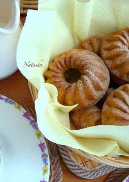 Пшенные кексы с яблочным пюре и изюмом