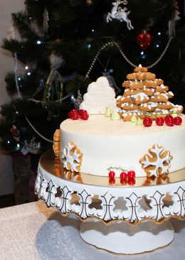 Муссовый торт с профитролями