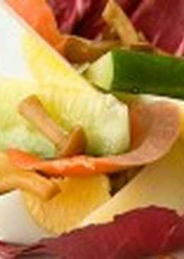 Салат с маринованными грибами (4)