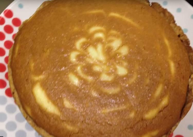 Творожно-карамельный пирог