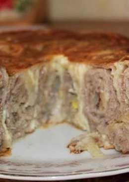 Шикарный мясной пирог без возни с тестом, из лаваша