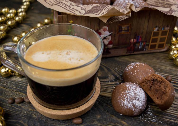 Шоколадно-кофейное печенье