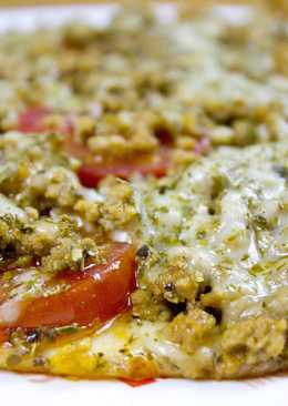 "Пицца ""Барбекю"" на сковороде за 10 минут"