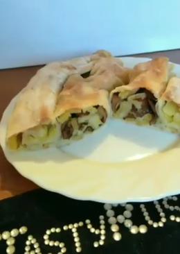 ПостныйПирог с грибами и картошкой