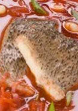 Борщ с рыбой и фасолью