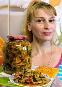 Салат из баклажанов на зиму простой рецепт заготовки