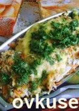 Филе морского окуня с грибным соусом