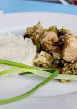 Тушеная индейка - рецепт