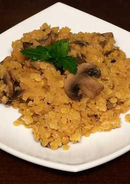 Чечевица с грибами - отличное блюдо в пост или гарнир к мясным блюдам
