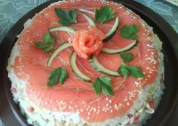 Закуска «Суши-торт»