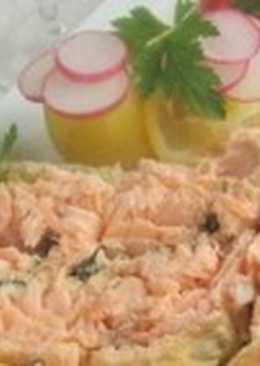 Пирог с лососем для пикника