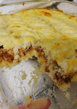 Картофельная запеканка с фаршем в духовке #кулинарныймарафон