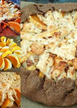 Цельнозерновая галета с тыквой, грушей и сыром. Завтрак из Франции. #чемпионатмира#франция