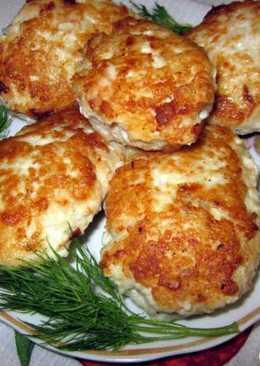 Куриные котлетки с плавленым сыром