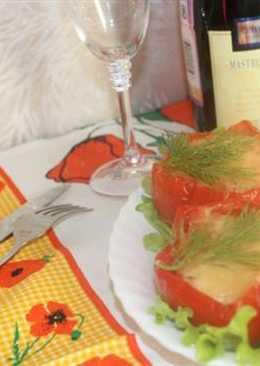 Курица в болгарском перце или как приготовить фаршированный перец куриным мясом в духовке, простой рецепт