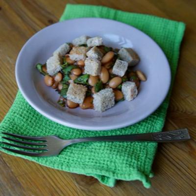 Салат из фасоли с кинзой рецепт