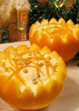 Новогодний десерт «Зимние апельсины»