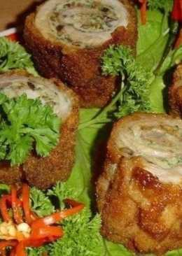 Оригинальная закуска «Пенечки» с мясом и грибами