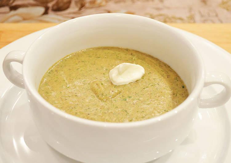 Овощной суп-пюре с шампиньонами