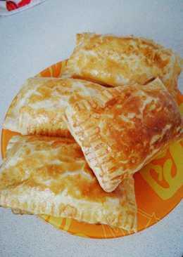 Слойки с сыром на завтрак #кулинарныймарафон