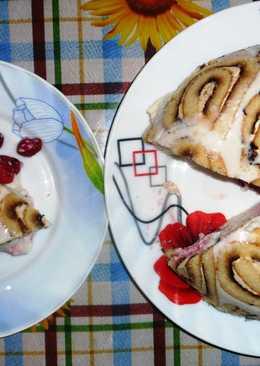 Творожный торт без выпечки «Улитка»