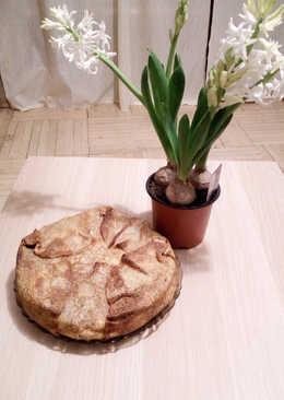 Блинный пирог и курицей и грибами