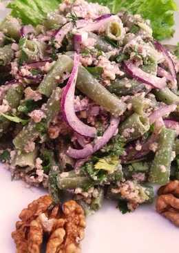 Салат из стручковой фасоли. Еда для веганов