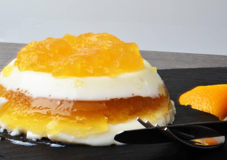 Пломбирно-апельсиновое желе