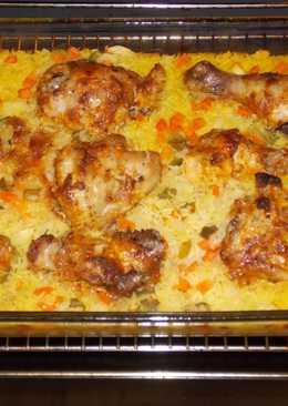 Курица на рисовой подушке