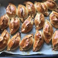 Пирожки с яблоком и вареньем из смородины #спас #непп #вкусноунасти
