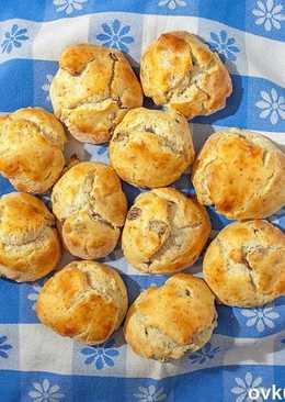 Классические английские фруктовые булочки - простейшая и вкуснейшая выпечка за 10 минут. (Вадим)