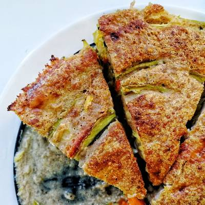 Трехцветный овощной пирог #пп