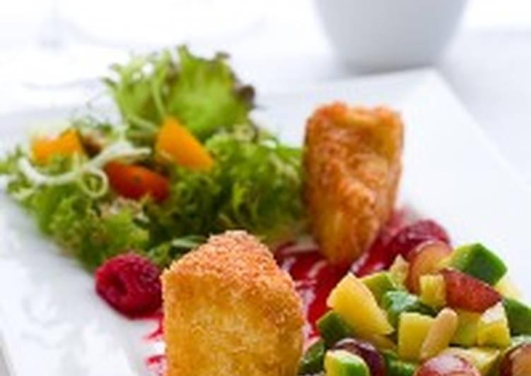 Салат с горячим мягким сыром