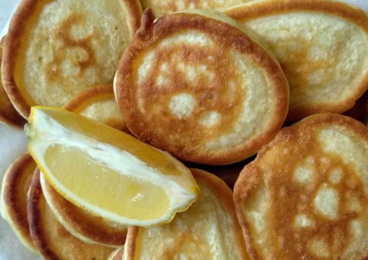 Пошаговый фото рецепт оладьев на кефире с лимоном — photo 1