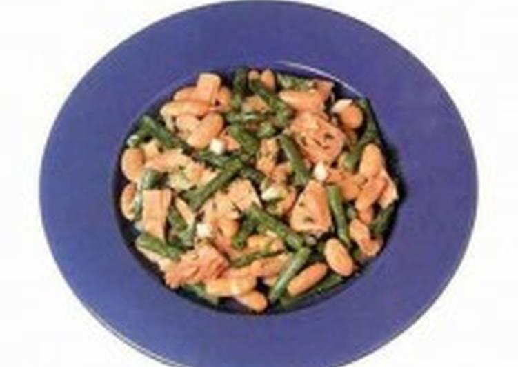 Салат из тунца и бобов