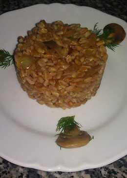 Армянский плов с грибами