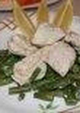 Стручковая фасоль с куриным филе в пароварке