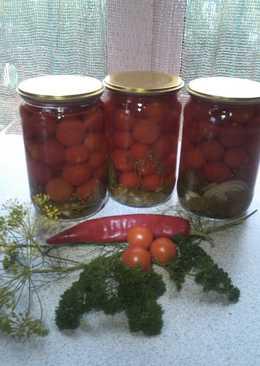 Маринованные помидорки черри пряные, ароматные