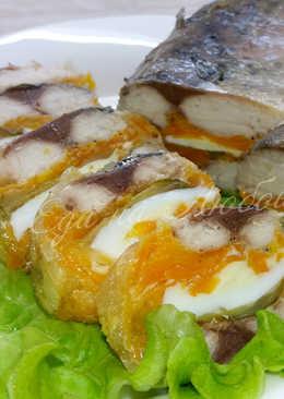 Холодная закуска - рулет из скумбрии