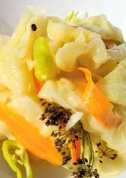 Маринованная капуста - быстрый рецепт