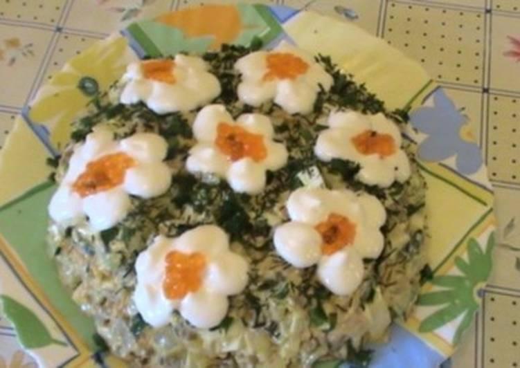 Новогодний салат «Восторг» с печенью