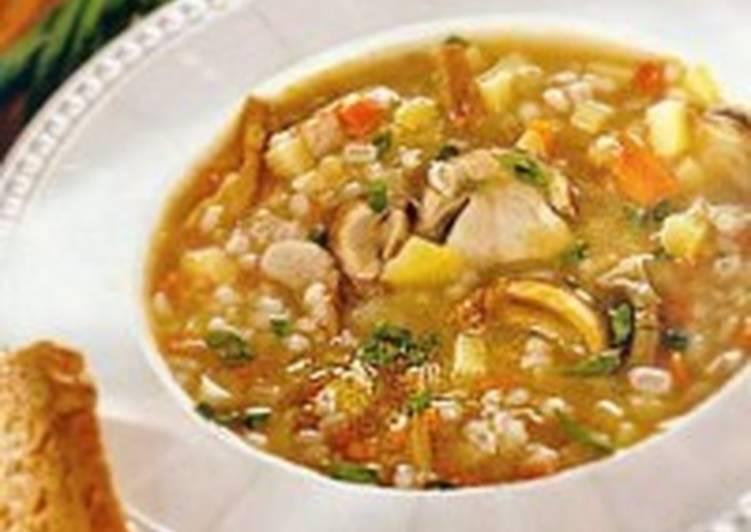Суп с грибами и перловкой «Краконош»