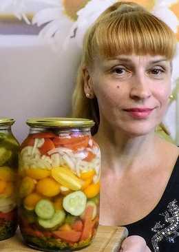 Салат из помидоров и огурцов на зиму - вкусный простой рецепт заготовки консервации