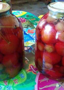 Консервированные томаты со сливами