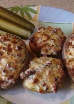 Запеченный картофель с розмарином и сыром