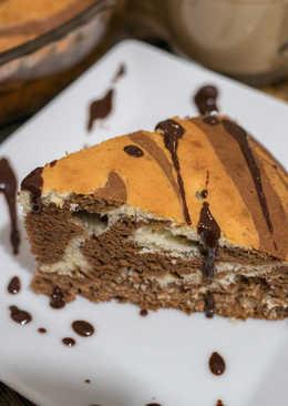 Пирог «Зебра» с изюмом