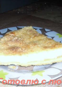 Творожный пирог на песочном тесте